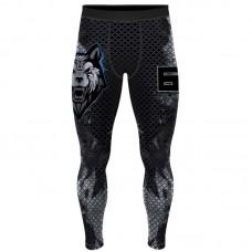 Компрессионные штаны 6F beast волк