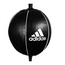 Пневмогруша скоростная Adidas pro mexican черная 20x20 см (кожа)