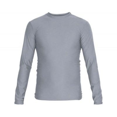 Рашгард Adidas серый ls в наличии в магазине Сайд-Степ
