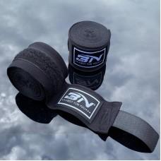 Боксерские бинты BN fight эластичные черные 3 м