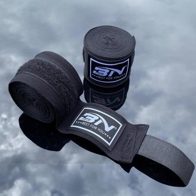 Боксерские бинты BN fight эластичные черные 3 м в наличии в магазине Сайд-Степ