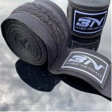 Боксерские бинты BN fight эластичные черные 5 м