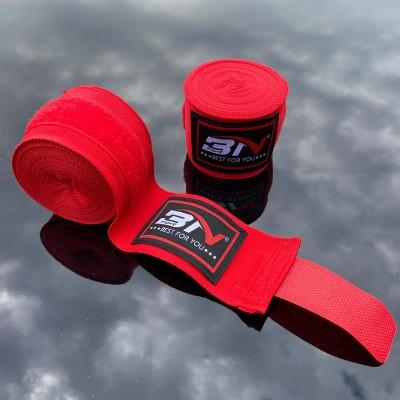 Боксерские бинты BN fight эластичные красные 3 м в наличии в магазине Сайд-Степ