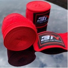 Боксерские бинты BN fight эластичные красные 3 м