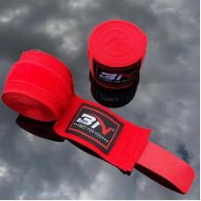 Боксерские бинты BN fight эластичные красные 5 м