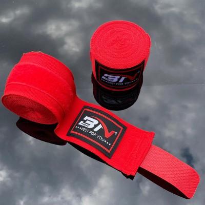 Боксерские бинты BN fight эластичные красные 5 м в наличии в магазине Сайд-Степ