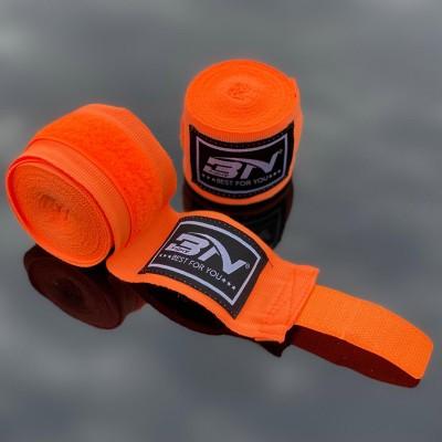 Боксерские бинты BN fight эластичные оранжевые 5 м - Сайд-Степ магазин спортивной экипировки