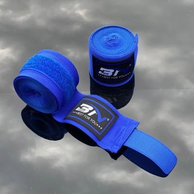 Боксерские бинты BN fight эластичные синие 3 м - Сайд-Степ магазин спортивной экипировки