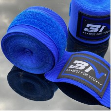 Боксерские бинты BN fight эластичные синие 3 м