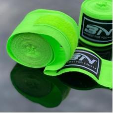 Боксерские бинты BN fight эластичные ярко-зеленые 5 м