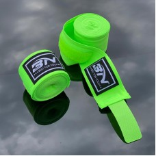 Боксерские бинты BN fight эластичные ярко-зеленые 3 м