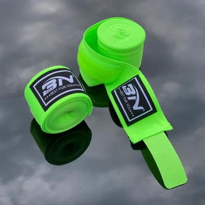 Боксерские бинты BN fight эластичные ярко-зеленые 3 м в наличии в магазине Сайд-Степ