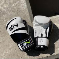 Боксерские перчатки BN fight черно-белые