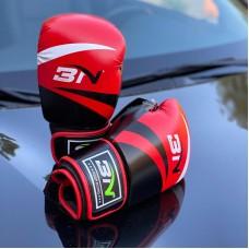 Боксерские перчатки BN fight черно-красные