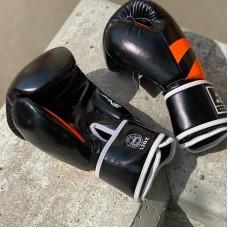Боксерские перчатки BN fight черно-оранжевые