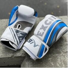 Боксерские перчатки BN fight excite бело-голубые