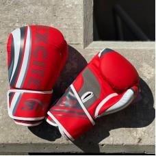 Боксерские перчатки BN fight excite бело-красные
