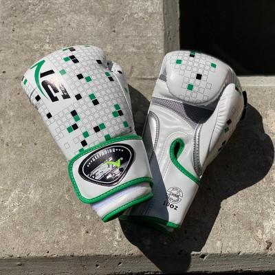 Боксерские перчатки BN fight tetris белые в наличии в магазине Сайд-Степ