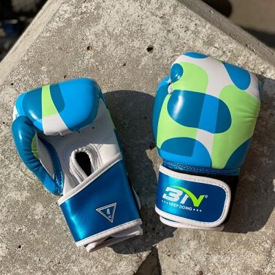 Детские боксерские перчатки BN fight camo blue 4 oz в наличии в магазине Сайд-Степ