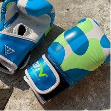 Детские боксерские перчатки BN fight camo blue 4 oz