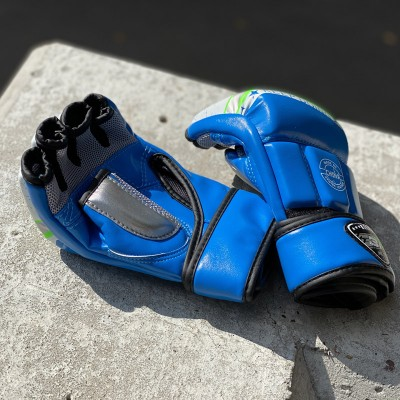 Перчатки ММА BN fight синие | Сайд-Степ