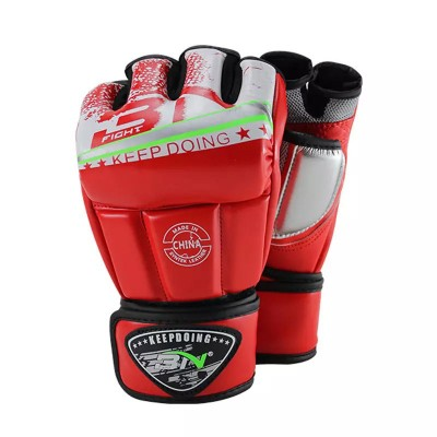 Перчатки ММА BN fight красные - Сайд-Степ магазин спортивной экипировки