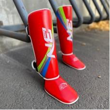 Детская защита ног BN fight красная
