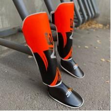 Защита ног BN fight черно-оранжевая