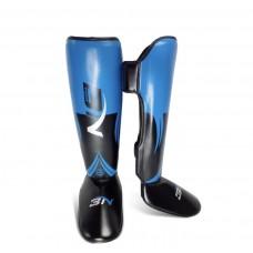 Защита ног BN fight черно-синяя