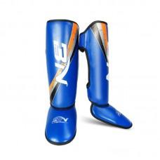 Детская защита ног BN fight синяя