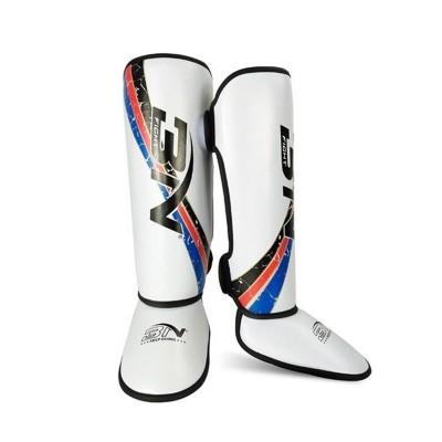 Детская защита ног BN fight белая - Сайд-Степ магазин спортивной экипировки