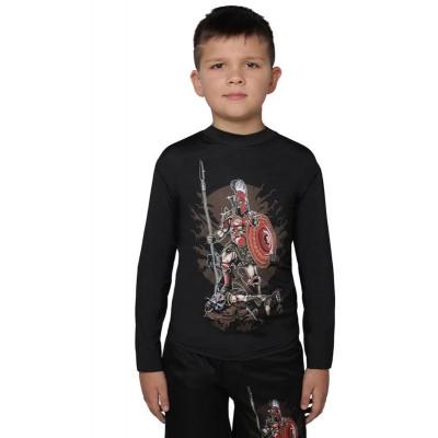 Детский рашгард Berserk sparta black - Сайд-Степ магазин спортивной экипировки