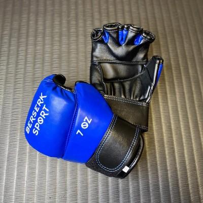Перчатки Berserk pankration approved UWW синие 7 oz (кожа) - Сайд-Степ магазин спортивной экипировки