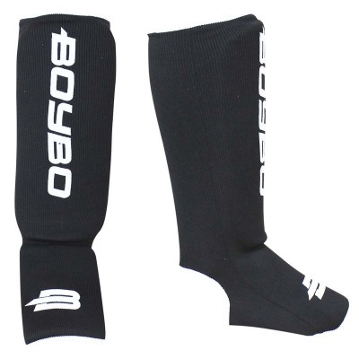 Детская защита ног BoyBo эластик черная - Сайд-Степ магазин спортивной экипировки