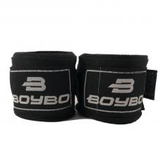 Боксерские бинты BoyBo х/б черные 2,5 м