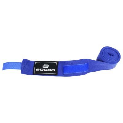 Эластичные боксерские бинты BoyBo синие 3,5 м - Сайд-Степ магазин спортивной экипировки