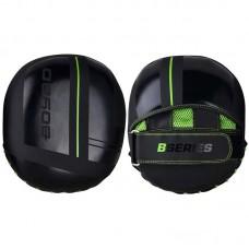 Боксерские лапы BoyBo b-series черно-зеленые