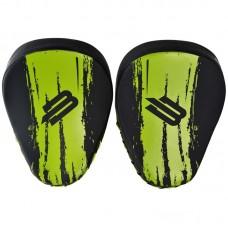 Боксерские лапы BoyBo stain черно-зеленые