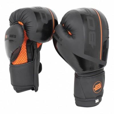 Боксерские перчатки Boybo b-series черно-оранжевые в наличии в магазине Сайд-Степ