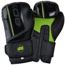 Боксерские перчатки BoyBo b-series черно-зеленые