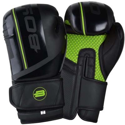Боксерские перчатки Boybo b-series черно-зеленые в наличии в магазине Сайд-Степ