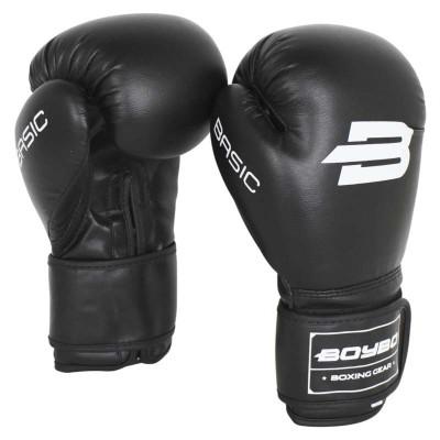 Детские боксерские перчатки BoyBo basic черные в наличии в магазине Сайд-Степ