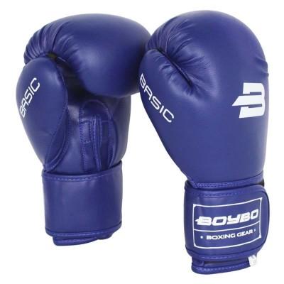 Детские боксерские перчатки BoyBo basic синие в наличии в магазине Сайд-Степ