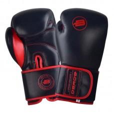 Боксерские перчатки BoyBo rage черно-красные (кожа)
