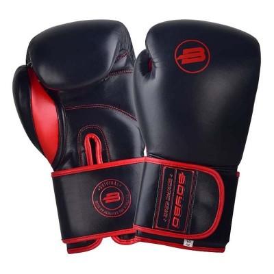 Боксерские перчатки BoyBo rage черно-красные (кожа) в наличии в магазине Сайд-Степ
