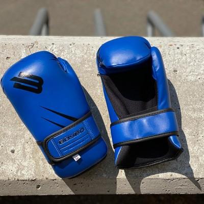 Перчатки для каратэ и тхэквондо BoyBo GTF/ITF синие в наличии в магазине Сайд-Степ