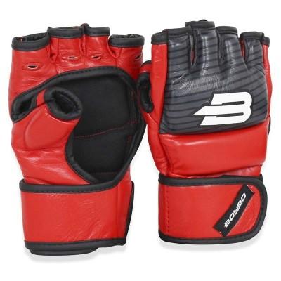 Перчатки ММА BoyBo inrage красные в наличии в магазине Сайд-Степ