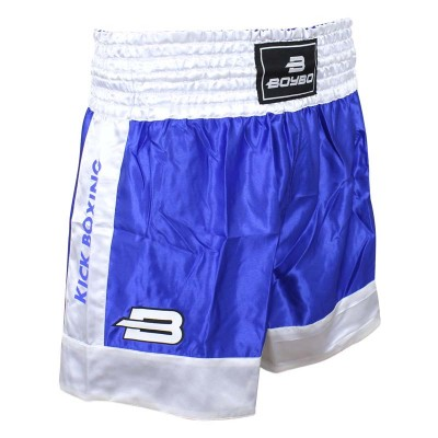 Детские шорты для кикбоксинга BoyBo синие в наличии в магазине Сайд-Степ