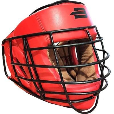 Шлем с металлической решеткой Boybo красный в наличии в магазине Сайд-Степ