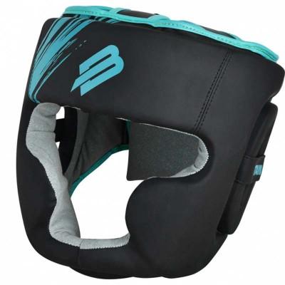 Тренировочный шлем BoyBo stain черно-бирюзовый в наличии в магазине Сайд-Степ